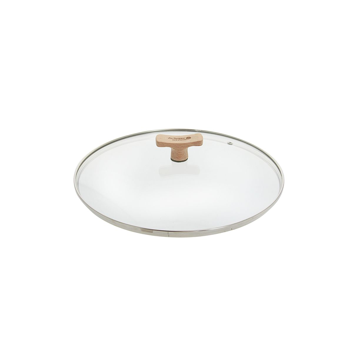 Couvercle en verre avec bouton en bois diamètre 32 cm - De Buyer