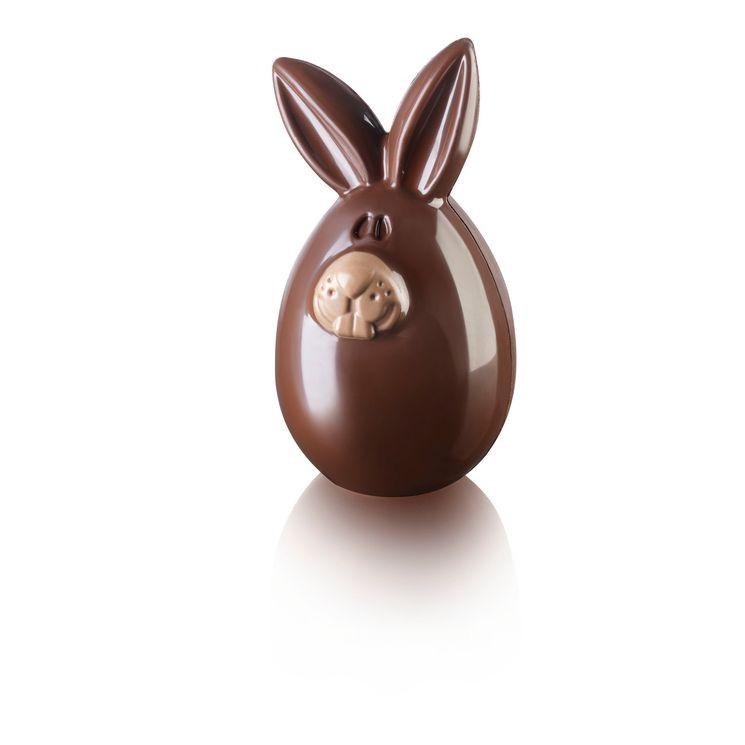 2 moules à chocolat en plastique thermoformée lapin de Pâques Lucky Bunny - Silikomart