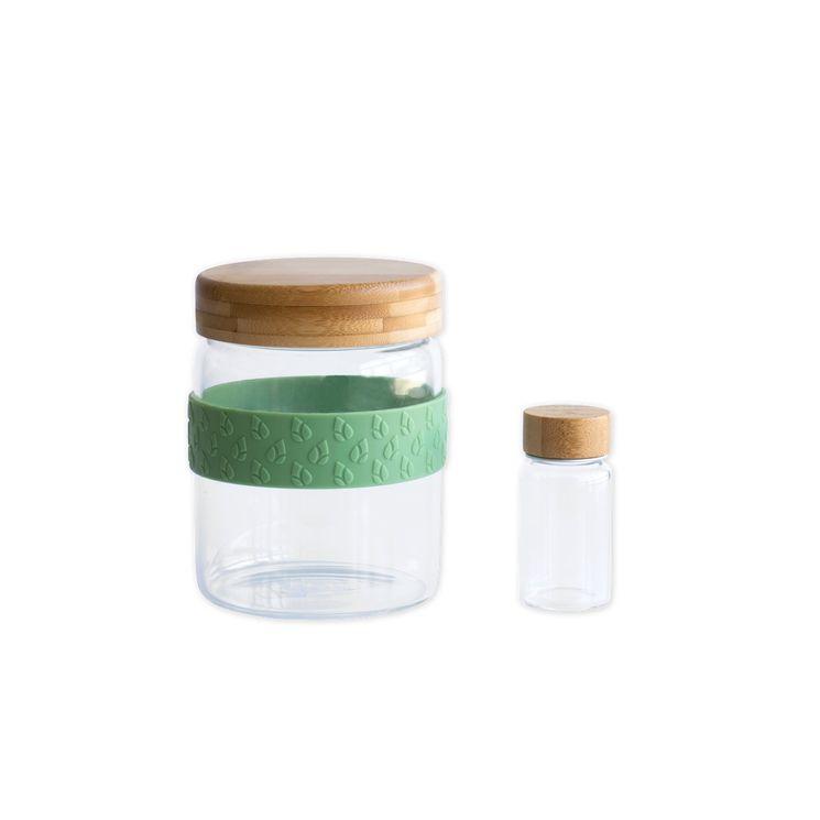 Set déjeuner nomade : bocal 700 ml/petit pot 50 ml en verre - Pebbly