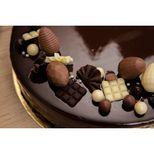 Décor en chocolat : petits éventails en chocolat noir 50 gr