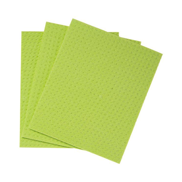 Carré pour la vaisselle x3 pcs cellulose et coton - Mr Eco