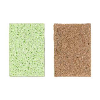 Achat en ligne Eponge grattante sans rayure x2 pcs cellulose et sisal  - Mr Eco