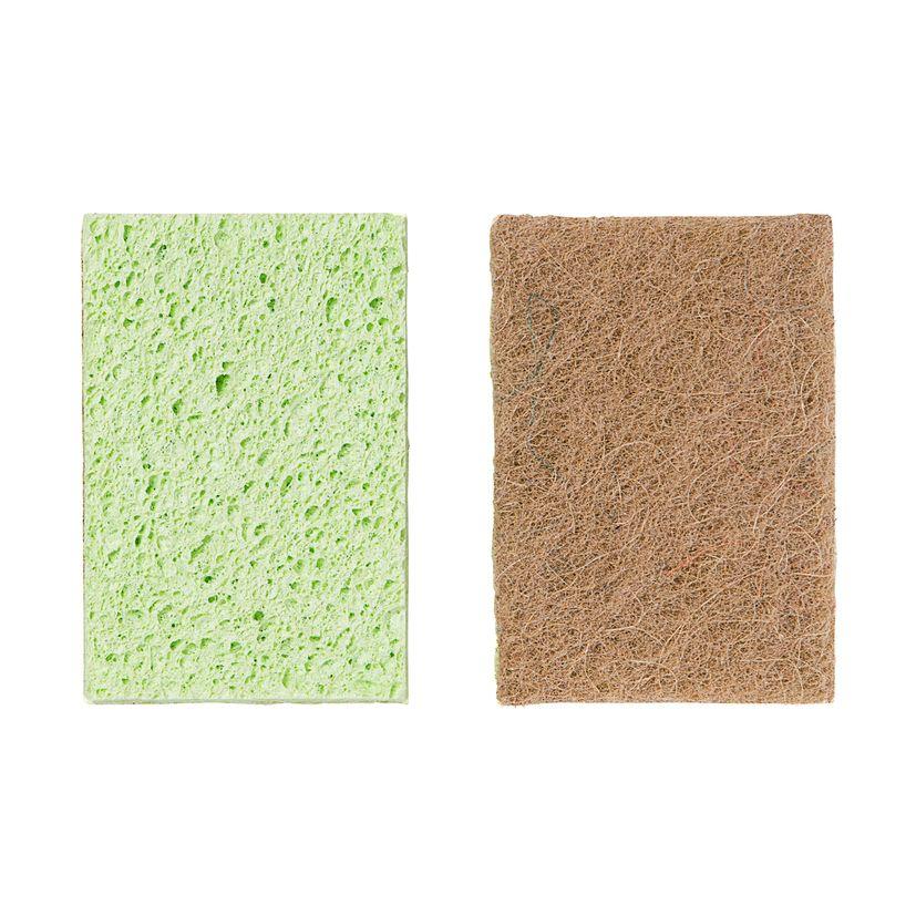 Eponge grattante sans rayure x2 pcs cellulose et sisal  - Mr Eco