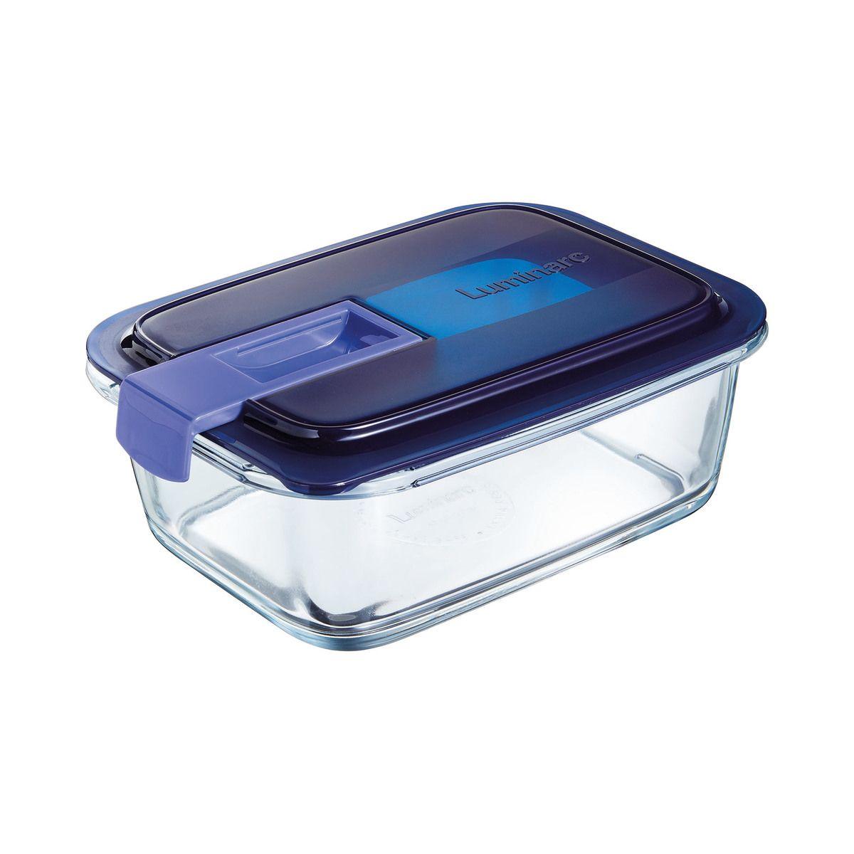 Boite hermetique Easy Box rectangulaire en verre 122cl 20.55x15.15x7.15cm - Luminarc
