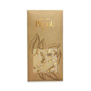 Achat en ligne Tablette de chocolat blanc au caramel aux inclusions d'amandes salées - Pecou