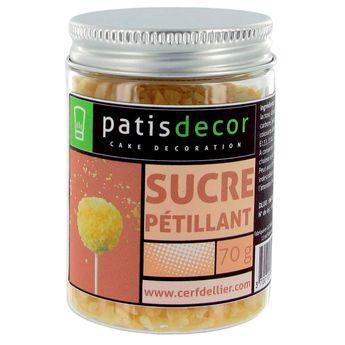 Achat en ligne Sucre pétillant nature 70 gr - Patisdecor