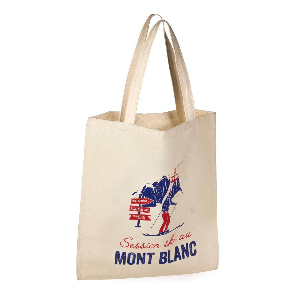 Totebag Le Mont Blanc de Chamonix 100% coton - Tissage de L´Ouest