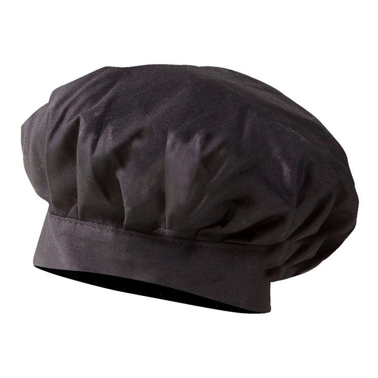 Toque Chef Noire en 100% coton - Winkler