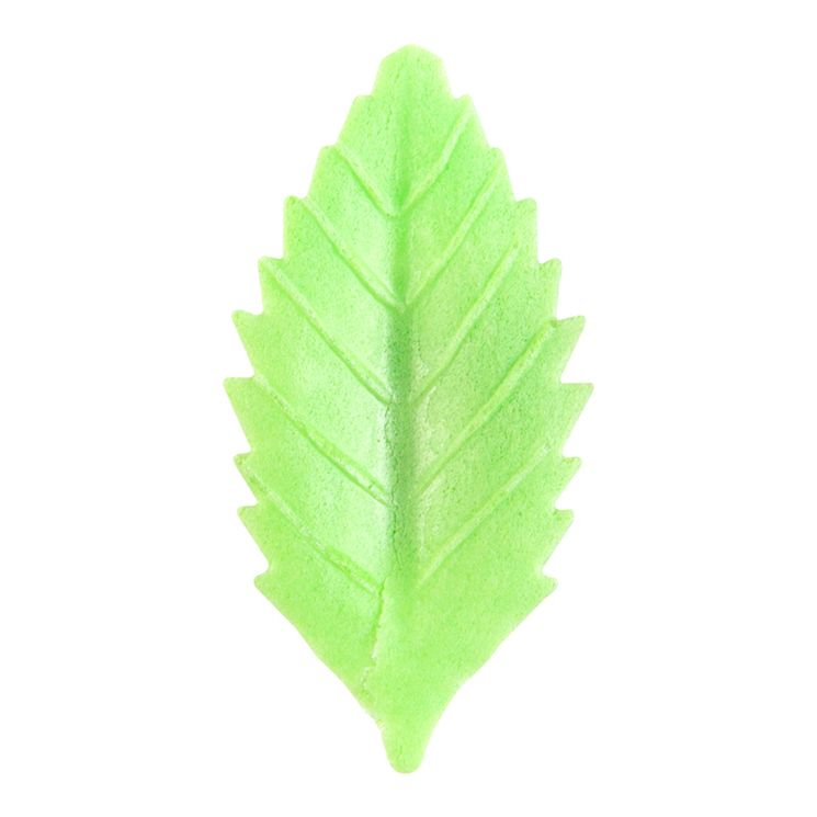 Décor en azyme : 50 feuilles vertes 4.5 cm