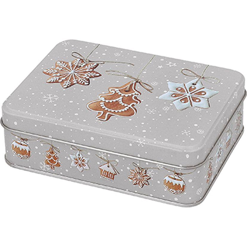 Set de 3 boîtes à biscuits rectangulaires en métal Noël - Birkmann
