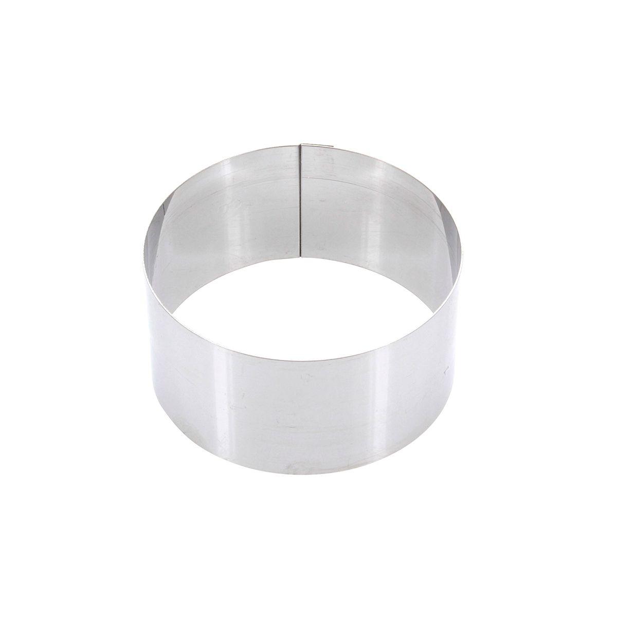 Cercle à pâtisserie individuel en inox 9 cm hauteur 4,5 cm - Alice Délice