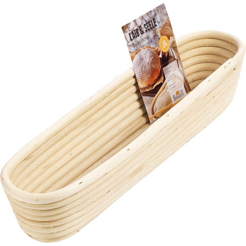 Banneton pour baguette en osier 8,5 x 37 cm - Birkmann