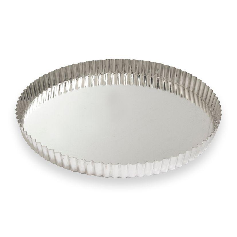 Moule à tarte fer blanc 10/12 parts 32 cm - Alice Délice