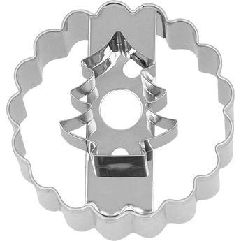 Achat en ligne Emporte-pièce en inox pour sablé à la confiture Linzer sapin 5 cm - Birkmann