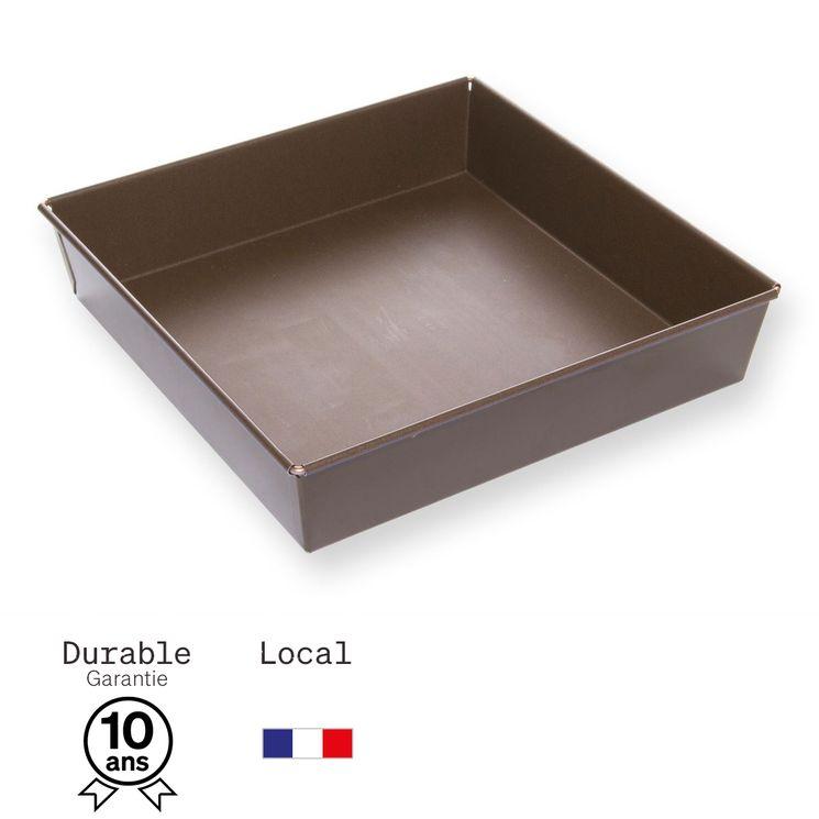Moule carré en métal anti adhérent 9/12 parts 22 cm - Alice Délice