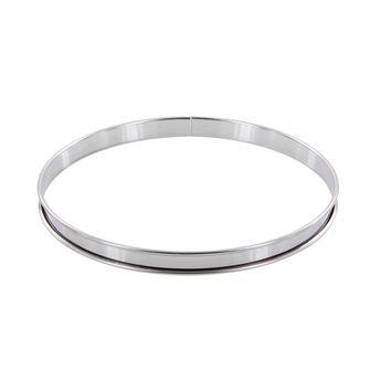 Achat en ligne Cercle à tarte en inox 24 cm hauteur 2 cm - Alice Délice