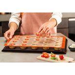 Moule 20 mini muffins en silicone et fibre de verre 40 x 30 cm - Silpat