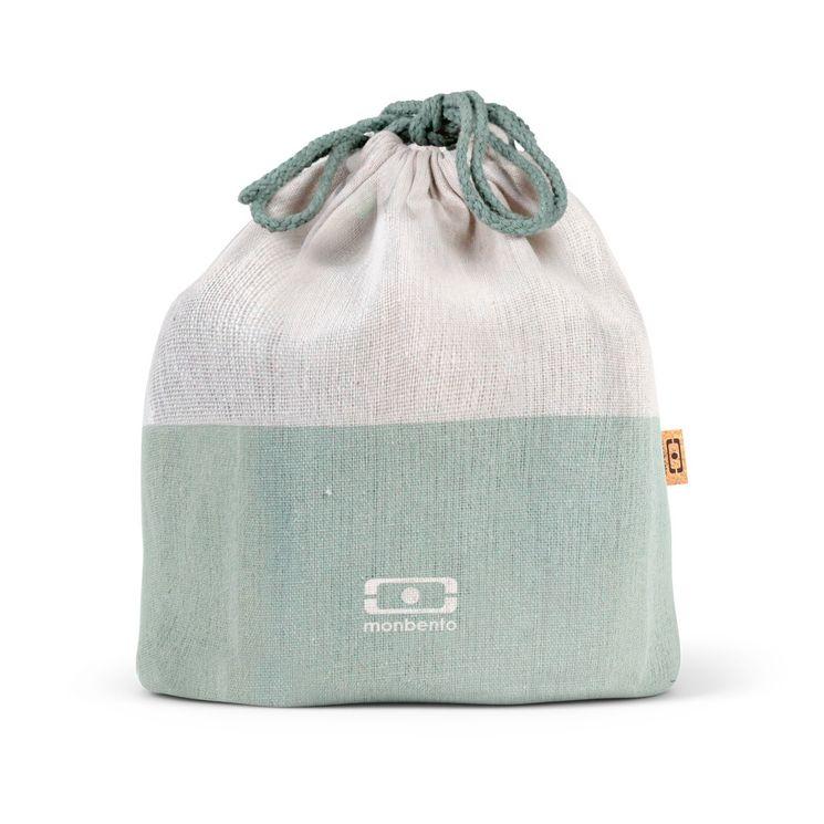 Pochette L Vert naturel en tissu recyclé - Monbento