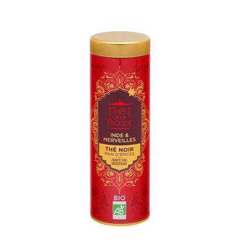 Achat en ligne Thé noir pain d'épices tube métal 85g édition Inde&merveilles - Thés de la Pagode