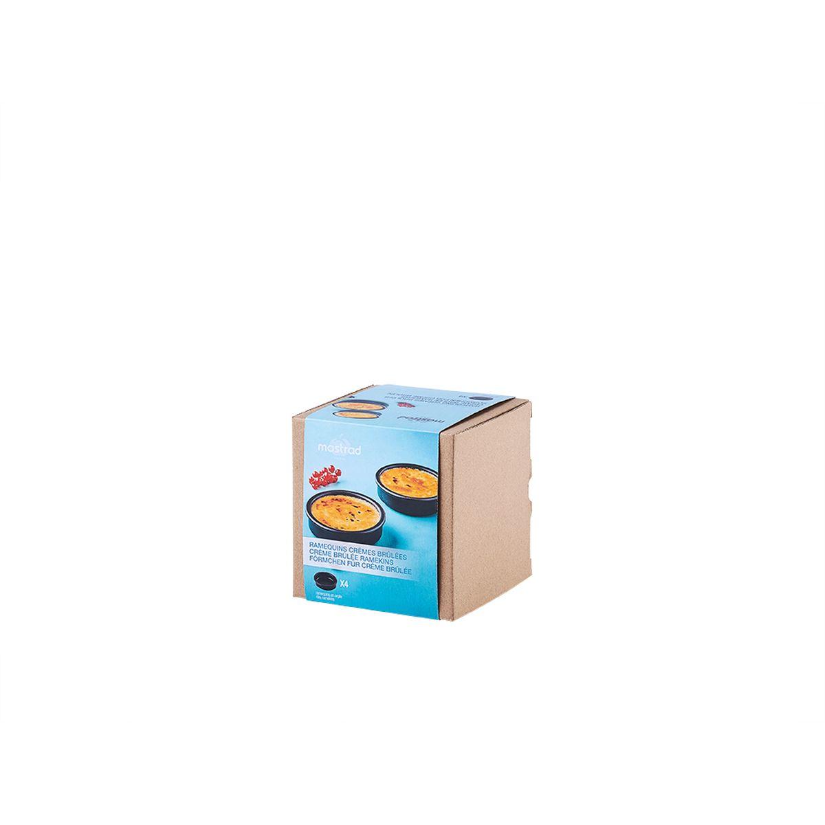 Set de 4 ramequins pour crèmes brûlées en argile noir  11,4 x 3 cm - Mastrad