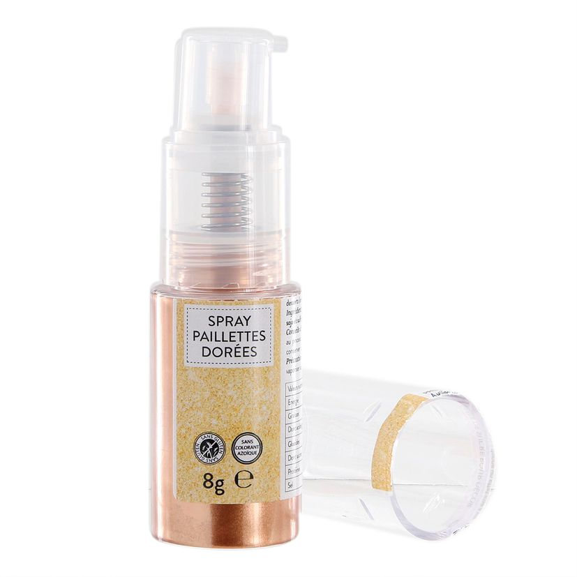 Spray paillettes alimentaires or 8 gr