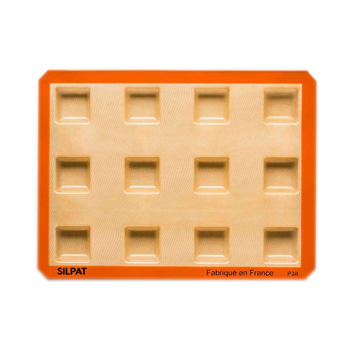 Moule 12 carrés en silicone et fibre de verre 40 x 30 cm - Silpat