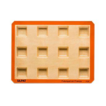 Achat en ligne Moule 12 carrés en silicone et fibre de verre 40 x 30 cm - Silpat