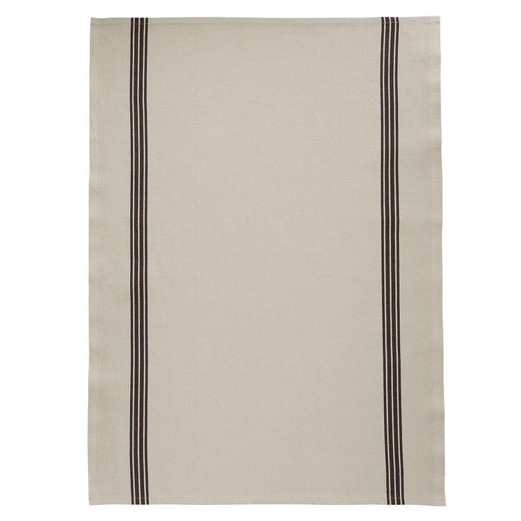 Lot de 2 torchons Piano pierre Bistrot lin/noir - Charvet editions