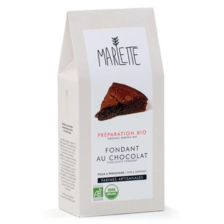 Préparation bio pour fondant au chocolat bio 380gr - Marlette