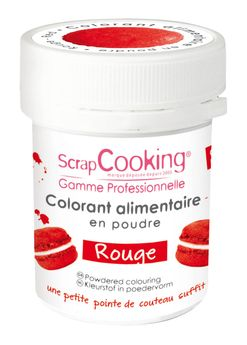 COLORANT ARTIFICIEL POUDRE ROUGE 5GR - SCRAPCOOKING
