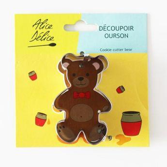 Découpoir inox ourson - Alice Délice