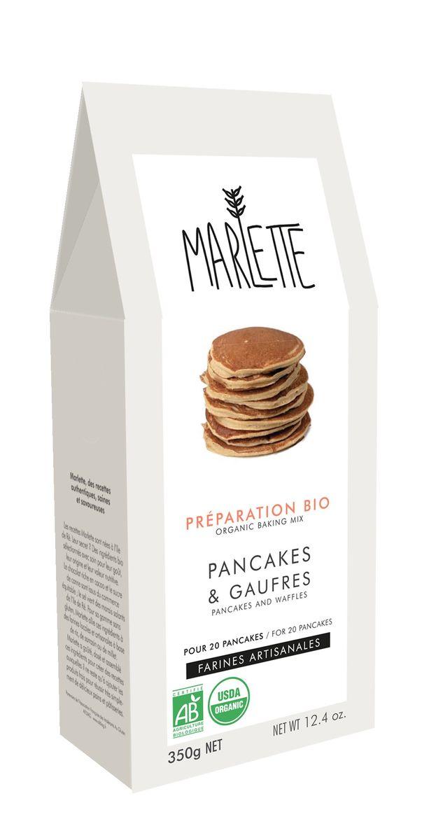 Préparation bio pour pancakes et gaufres 350gr - Marlette