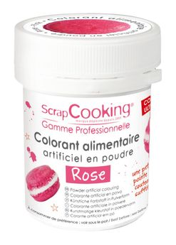 COLORANT ARTIFICIEL POUDRE ROSE - SCRAPCOOKING