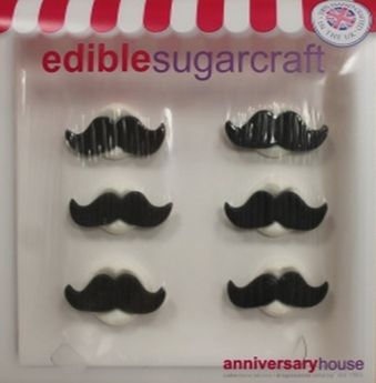 DECORS EN SUCRE MOUSTACHES - ANNIVERSARY HOUSE